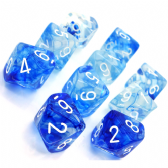 Blue & White Nebula D10 Ten Sided Dice Set